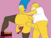 Homer fucks Marge in her asshole - Family Orgy Marge Simpson Simpsons Sex