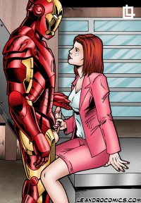 Pepper Potts sucks Iron Man's dick! - All Comics Iron Man