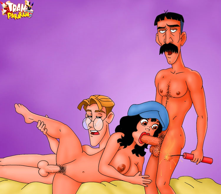 Think, that famous cartoon gangbang apologise, but